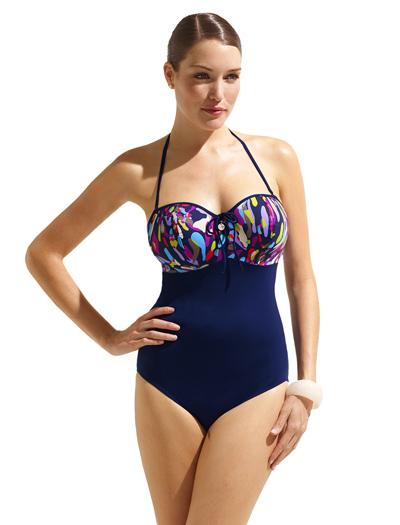 b016010fcf Panache Women s Pebbles Underwire Bandeau Swimsuit